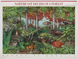 37c NORTHEAST DECIDUOUS FOREST Pane of 10 2005 Scott #3899