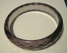Gorgeous smoky coloured faceted bangle style bracelet approx 2.5 ins diameter