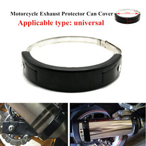 Universal Motorcycle Exhaust Protector Cover 100MM-140MM Oval/Circular Parts New