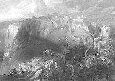 Spain, Malaga RONDA ~ Old DAVID ROBERTS 1835 Landscape Art Print Engraving RARE!
