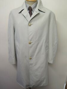 "Genuine Vintage Aquascutum Beige Raincoat Coat Mac Size 40"" R Euro 50 R"