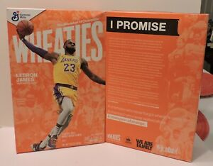 2020 LA LAKERS #23 LEBRON JAMES LIMITED EDITION WHEATIES CEREAL BOX SEALED