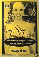 "STONE TEMPLE PILOTS /CHEAP TRICK 1996 ""TINY MUSIC TOUR"" SAN DIEGO CONCERT POSTER"
