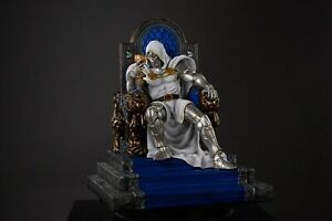 In stock Private Custom white Doctor Doom throne 1/4 Scale Ploystone Statue-NEW