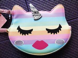 Betsey Johnson Rainbow Unikitty Purse New With Tags