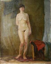 Russian Ukrainian Oil Painting Realism female Portrait girl Nude figure atelier