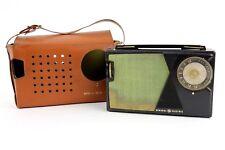Vintage 1960s Transistor Radio BLACK General Electric With Case