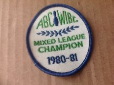 "Vintage Embroidered Bowling Patch ""1980-81 ABC-WIBC Mixed League Champion"""