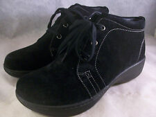 NEW DANSKO WOMEN'S ALANA LACE-UP ANKLE BOOTIES BLACK NUBUCK 38 8 MEDIUM $190