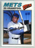 ED KRANEPOOL NEW YORK METS 1977 STYLE CUSTOM MADE BASEBALL CARD BLANK BACK