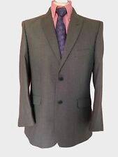 MEN'S SUIT, VESTITI PIU 40 SHORT TAILORED FIT LIGHT GREY PINDOT SUIT W34 L28