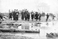 Ahj-76 Wreck Of North Bay Pier, Scarborough, North Yorkshire 1905. Photo