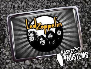 Led Zeppelin Belt Buckle - Rock Music Handmade Silver Buckle - 677