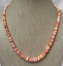 """Gradual spiny oyster shell heishi necklace//19"""" length(w305s-w2)"""