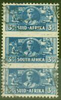 South Africa 1942 3d Blue SG101 Fine Used