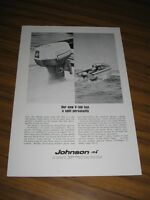 1967 Print Ad Johnson Meteor V-100 Outboard Motors 100 HP
