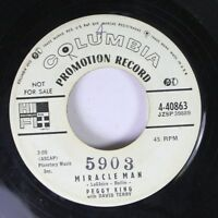 Pop Promo 45 Peggy King - Miracle Man / In My Own Little Corner On Columbia