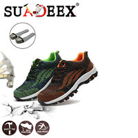 Mens Safety Shoes Steel Toe Work Boots Indestructible Sport Mesh Sneakers Hiking