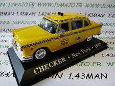 voiture 1/43 IXO Altaya TAXI du monde : CHECKER NEW YORK 1980
