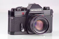 PRECIOSA KONICA AUTOREFLEX T3 T-3  BLACK + HEXANON AR 1.7 50 EXCELLENT TESTED