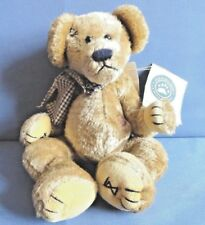 """BOYDS BEAR  """"PATCHES B. BEARILUVED""""   POSEABILITY & HAS HIS TAGS  RETIRED 2002"""