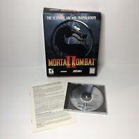 Mortal Kombat II 2 PC Arcade Fighter Fighting Big Box Computer Game NO MANUAL