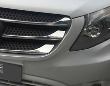 Chrome Avant Calandre Accent Bordure Set couvre pour s'adapter MERCEDES-BENZ Vito W447 (15+)