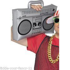 Inflatable Ghetto Blaster Stereo Party Accessory Boom Box Fancy Dress Retro Fun