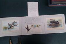 Scarce 1991 Waterbirds of Australia Portfolio pack of FDC and Prints