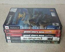 PLAYSTATION 2 LOT 5 GAMES ONIMUSHA MATRIX GTA VICE VITY SAN ANDREAS SOCOM 2