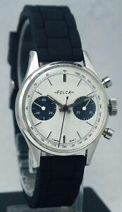Vintage Beautiful Falca Chronograph Incabloc Caliber 248 Swiss Made Wrist Watch