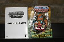 MASTERS OF THE UNIVERSE CLASSICS SNAKE MAN-AT-ARMS MOTUC MOC MINT He-Man