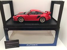 Autoart 1:18 PORSCHE 911 (997) GT2 RS IN STUNNING RED WITH CARBON BONNET V.RARE