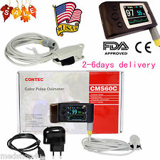 FDA CE handheld Pulse Oximeter Blood Oxygen Spo2 Monitor Adult Probe PC software