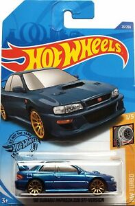 2020 Hot Wheels Mainline #023 - '98 Subaru Impreza 22b STi Version (Blue) GHB42