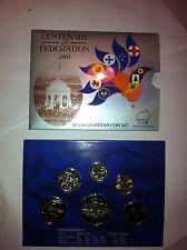 2001  Australian UNC 6 COIN SET. CENTENARY OF FEDERATION