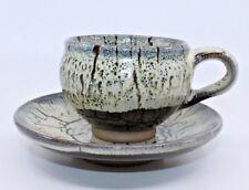 Studio Art Pottery Handcrafted Coffee Tea Mug Cup Saucer Plate Set Artist Signed