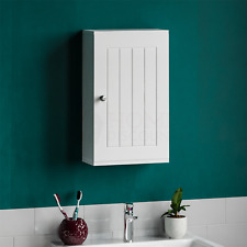 Priano Bathroom Cabinet Wall Mounted Single Door Cupboard Wooden Storage White