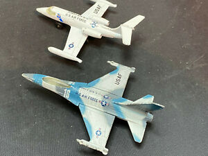 Vintage Matchbox USAF Air Force Diecast F-16A Airplane Military Plane Lot