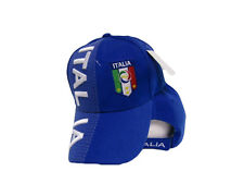Italy Italian Italia Country Blue Letters Flag Crest Hat Cap 3D embroidered