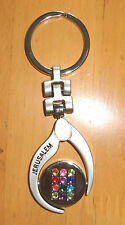 A Lot Of 3 Judaica Key Rings, All New,Elegant Design,Lovely Souvenirs Of Israel