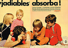 PUBLICITE ADVERTISING 064  1970  ABSORBA   pyjamas enfants  ( 2 pages)