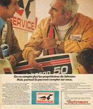 Publicité 1975  JOHNSON moteur de bateau