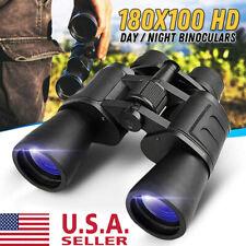180x100 High Power Military Binoculars Day/Night Optics Hunting Camping+Bag