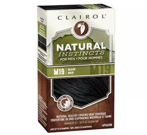 Clairol Mens Natural Instincts Semi Permanent Hair Dye Kit M19 Black Brand New