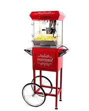 Paramount 6oz Popcorn Maker Machine & Cart - New Upgraded 6 oz Popper [Red]