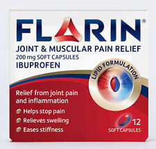 Flarin Joint & Muscular Pain Relief - 200mg - 12 Lipid Soft Capsules