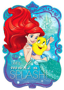 New Disney Ariel Dream Big Postcard Invitations Birthday Party Favor Decorations