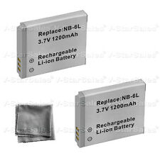 2x NB-6L NB-6LH Battery + BONUS for Canon PowerShot SX280 SD980 SX250