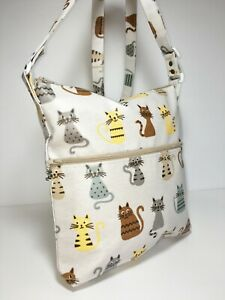 UK Handmade Cross-body Style Adjustable Lined Oilcloth Bags Animal Theme Fabrics